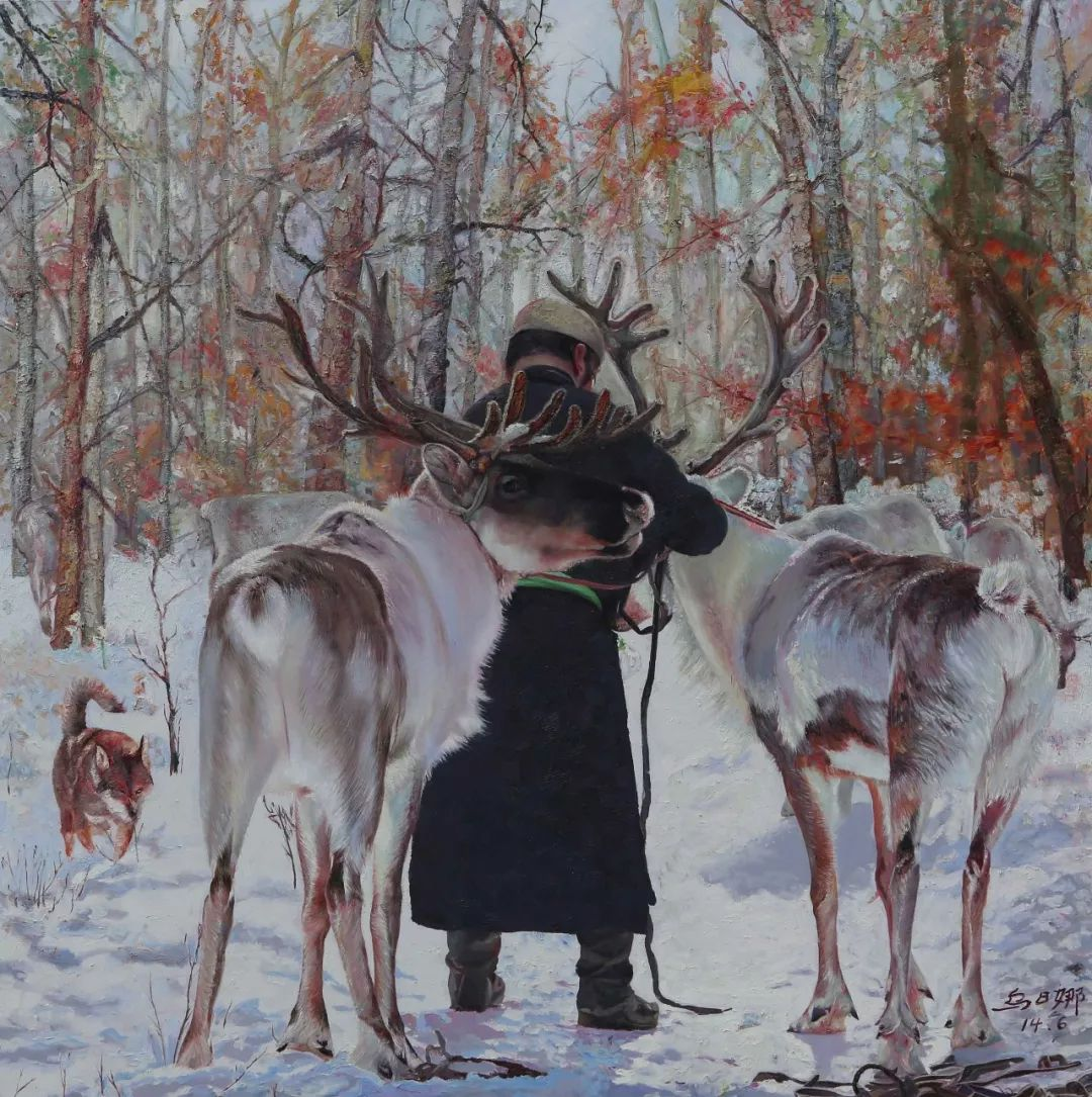 【赏析】心灵深处的绿色草原 ——蒙古族画家乌日娜的油画 第10张