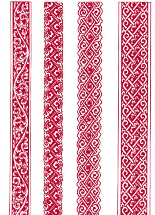 蒙古族腰线矢量素材5