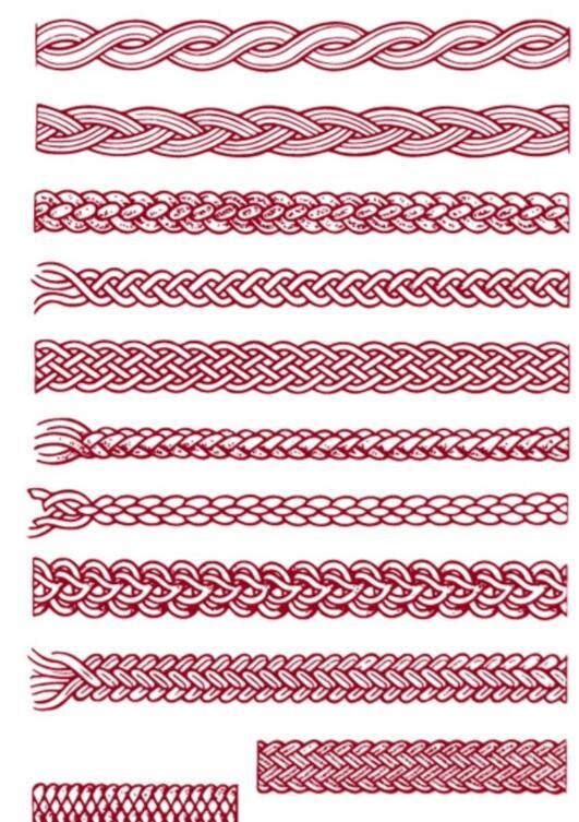 蒙古编绳图案 第1张