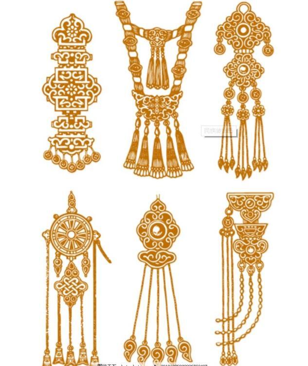 蒙古头饰装饰品图片1 第1张