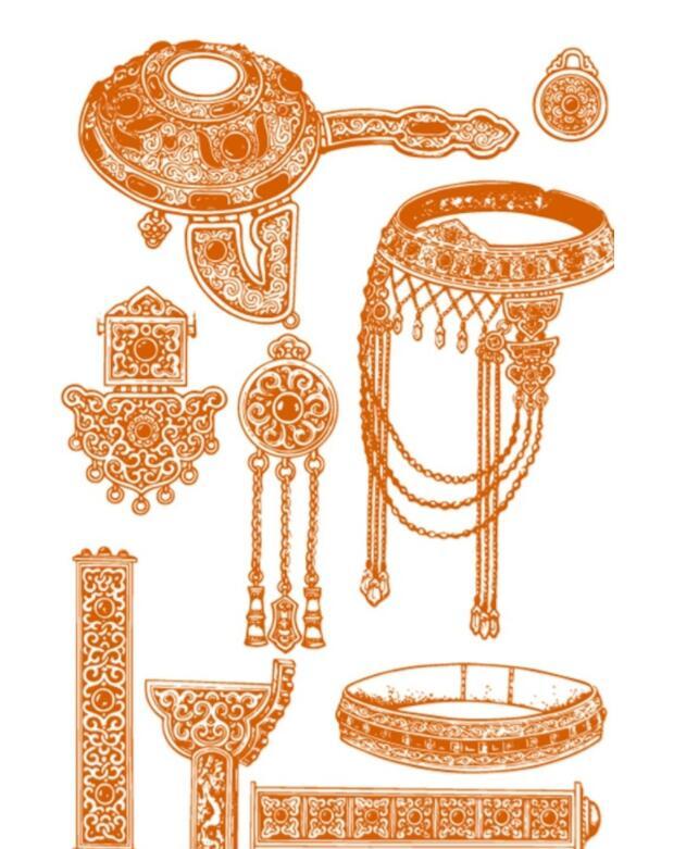 蒙古头饰装饰品图片2 第1张