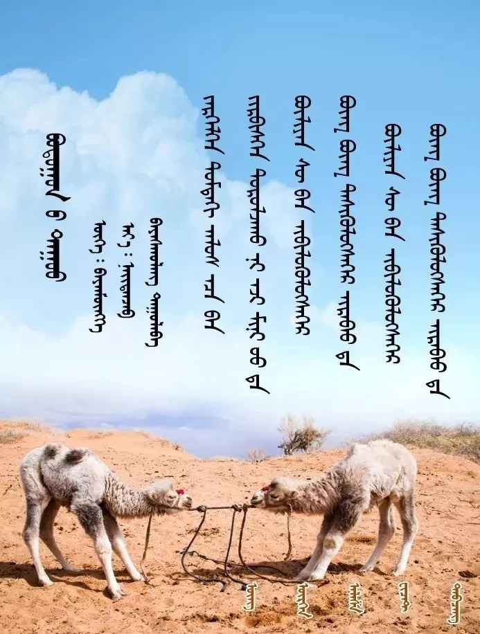 ◈ 蒙古歌词100首(第5部) 第9张