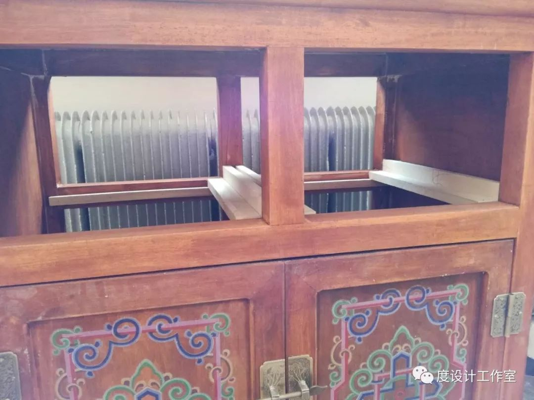 从图纸到实物,我们一起走过|彩绘蒙古族风格立柜的制作过程展示 第21张
