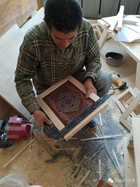 从图纸到实物,我们一起走过|彩绘蒙古族风格立柜的制作过程展示 第23张