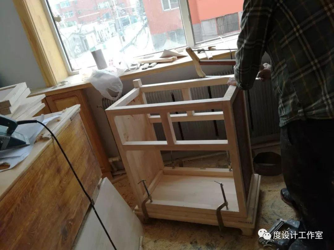 从图纸到实物,我们一起走过|彩绘蒙古族风格立柜的制作过程展示 第25张