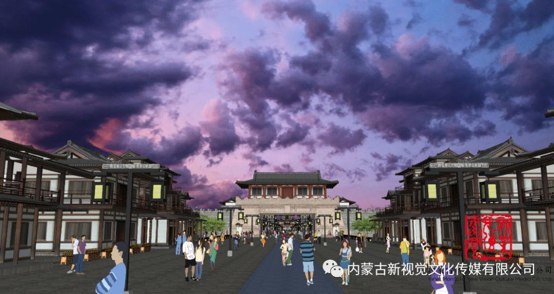 内蒙古辽上京契丹辽文化主题商业步行街设计效果 第2张
