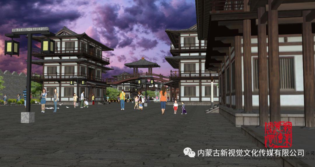 内蒙古辽上京契丹辽文化主题商业步行街设计效果 第4张