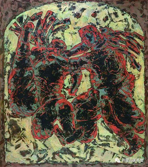 """庆祝中华人民共和国成立七十周年——""""草原四季 亮丽北疆""""全国美术作品展览 第36张"""