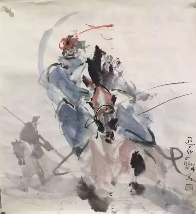 【绘画】画家包布和笔下的蒙古马,简直栩栩如生 第2张