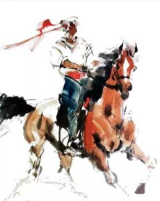 【绘画】画家包布和笔下的蒙古马,简直栩栩如生 第10张