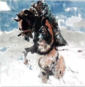 【绘画】画家包布和笔下的蒙古马,简直栩栩如生 第9张