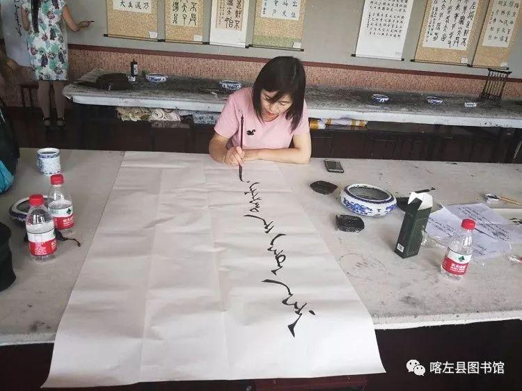 喀喇沁蒙古文书法培训基地举办 蒙古文书法进校园活动 第9张