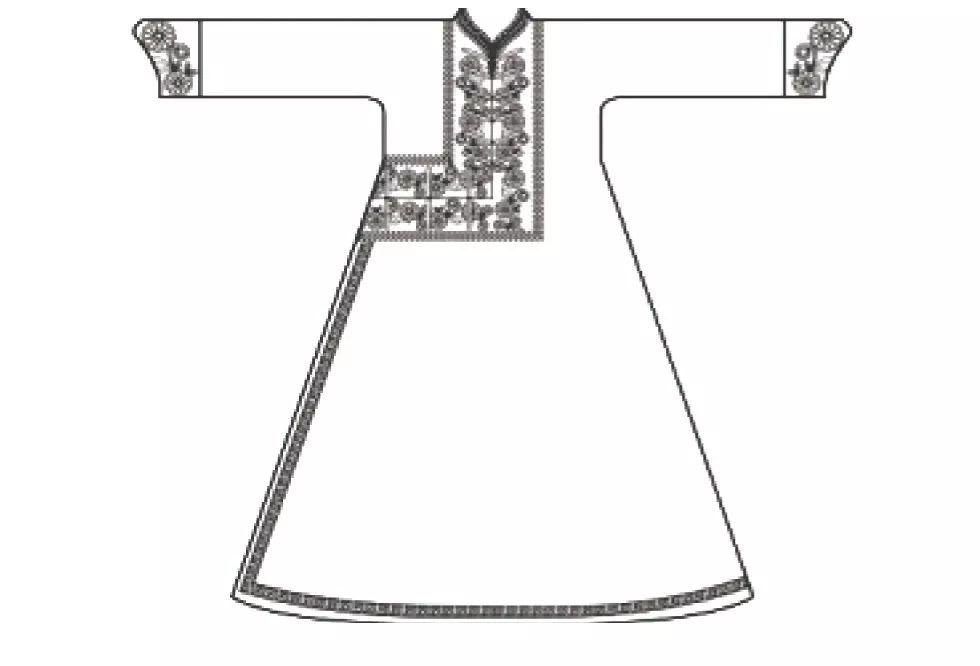 蒙古族传统服饰襟边缘饰 第4张