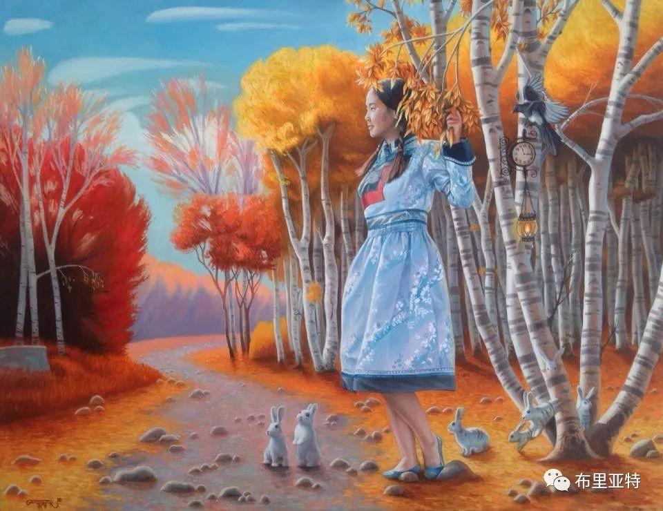 蒙古国90后自由画家甘·巴雅尔作品欣赏,浓浓的天鹅神话风 第8张