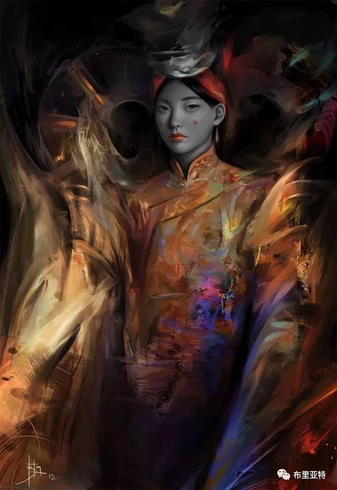 蒙古国90后自由画家甘·巴雅尔作品欣赏,浓浓的天鹅神话风 第12张
