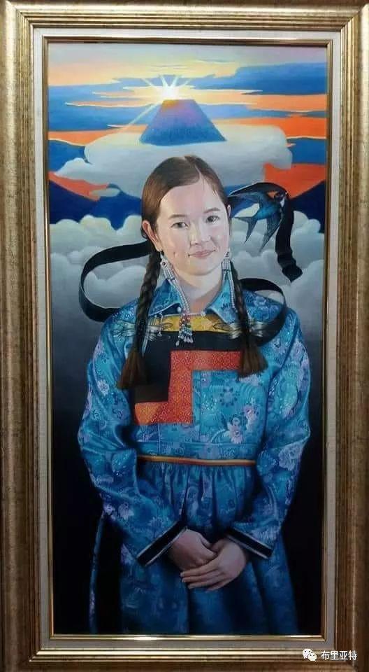 蒙古国90后自由画家甘·巴雅尔作品欣赏,浓浓的天鹅神话风 第10张