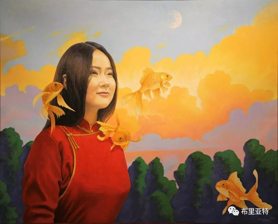 蒙古国90后自由画家甘·巴雅尔作品欣赏,浓浓的天鹅神话风 第13张
