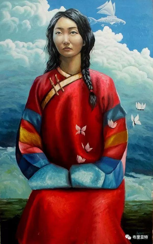 蒙古国90后自由画家甘·巴雅尔作品欣赏,浓浓的天鹅神话风 第14张