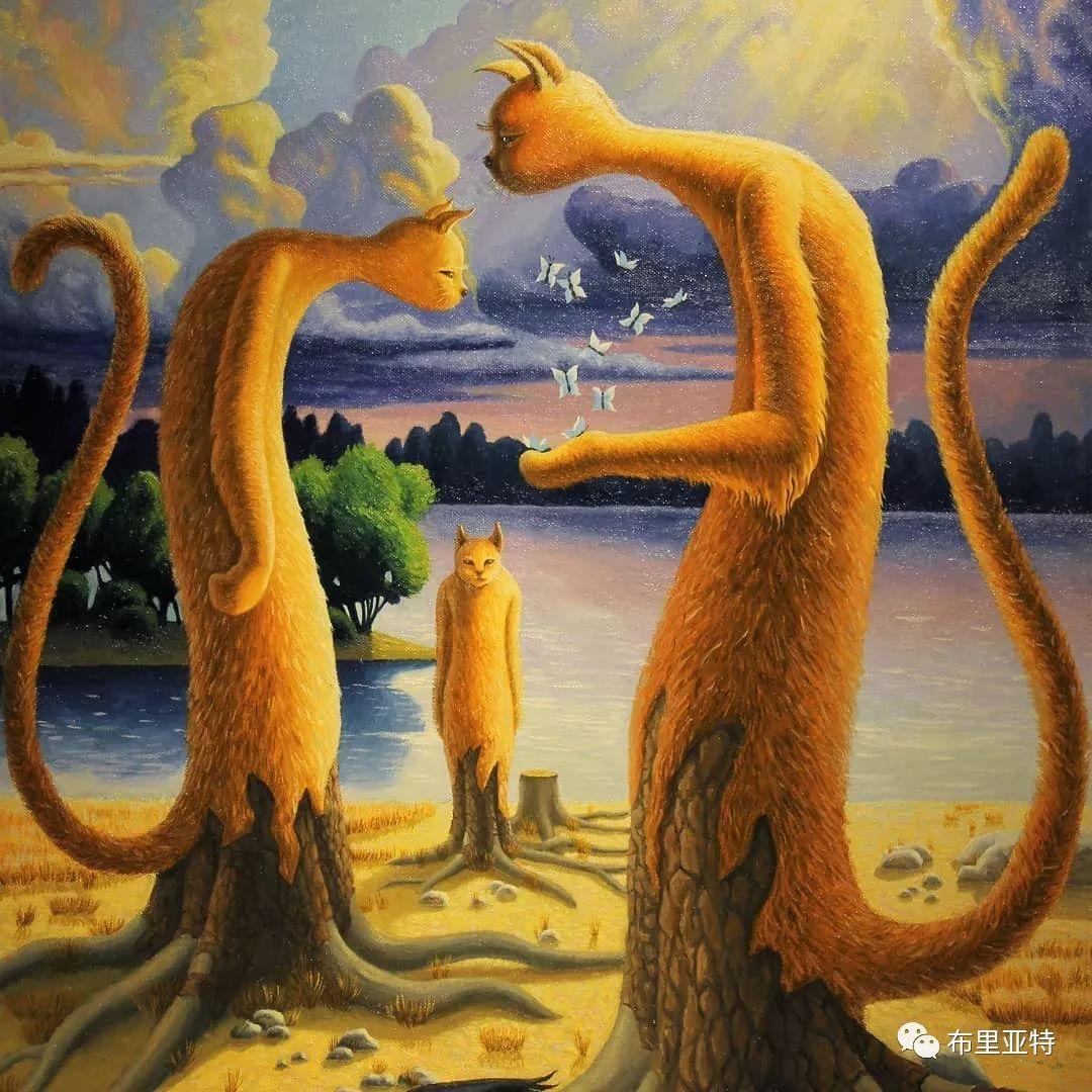 蒙古国90后自由画家甘·巴雅尔作品欣赏,浓浓的天鹅神话风 第17张