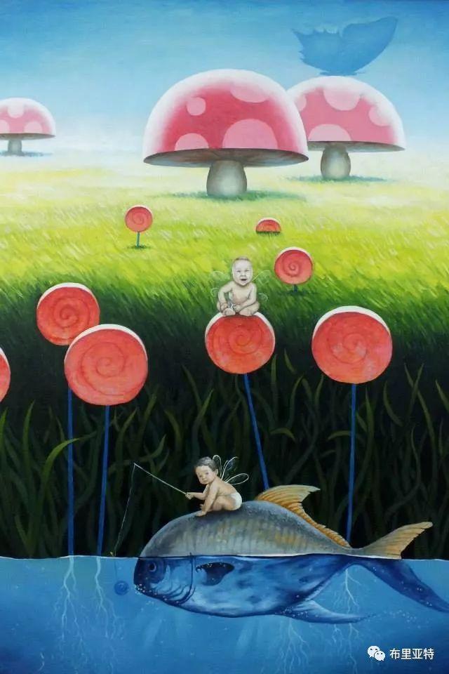 蒙古国90后自由画家甘·巴雅尔作品欣赏,浓浓的天鹅神话风 第18张