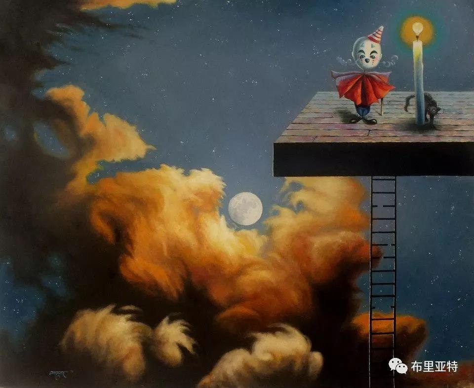 蒙古国90后自由画家甘·巴雅尔作品欣赏,浓浓的天鹅神话风 第19张