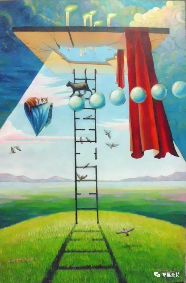 蒙古国90后自由画家甘·巴雅尔作品欣赏,浓浓的天鹅神话风 第20张