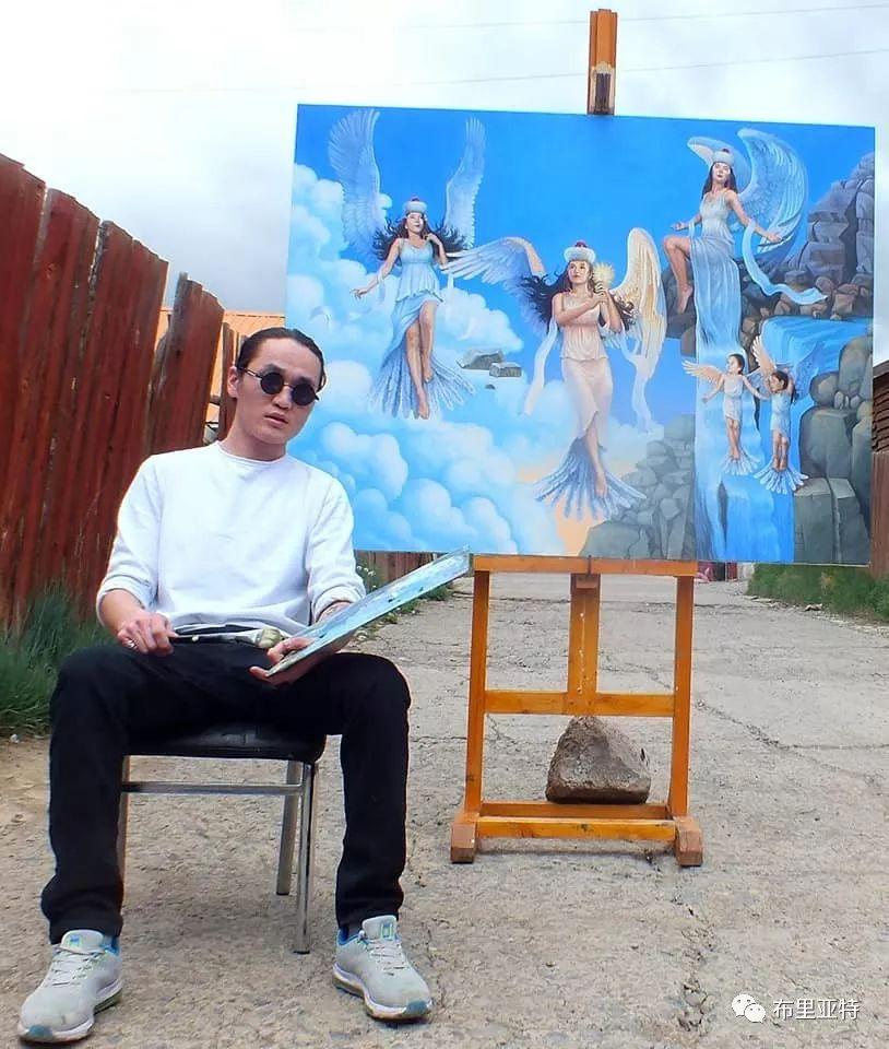 蒙古国90后自由画家甘·巴雅尔作品欣赏,浓浓的天鹅神话风 第25张