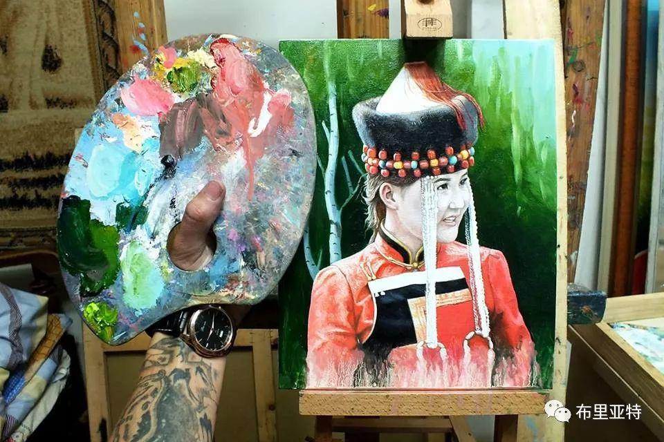 蒙古国90后自由画家甘·巴雅尔作品欣赏,浓浓的天鹅神话风 第24张