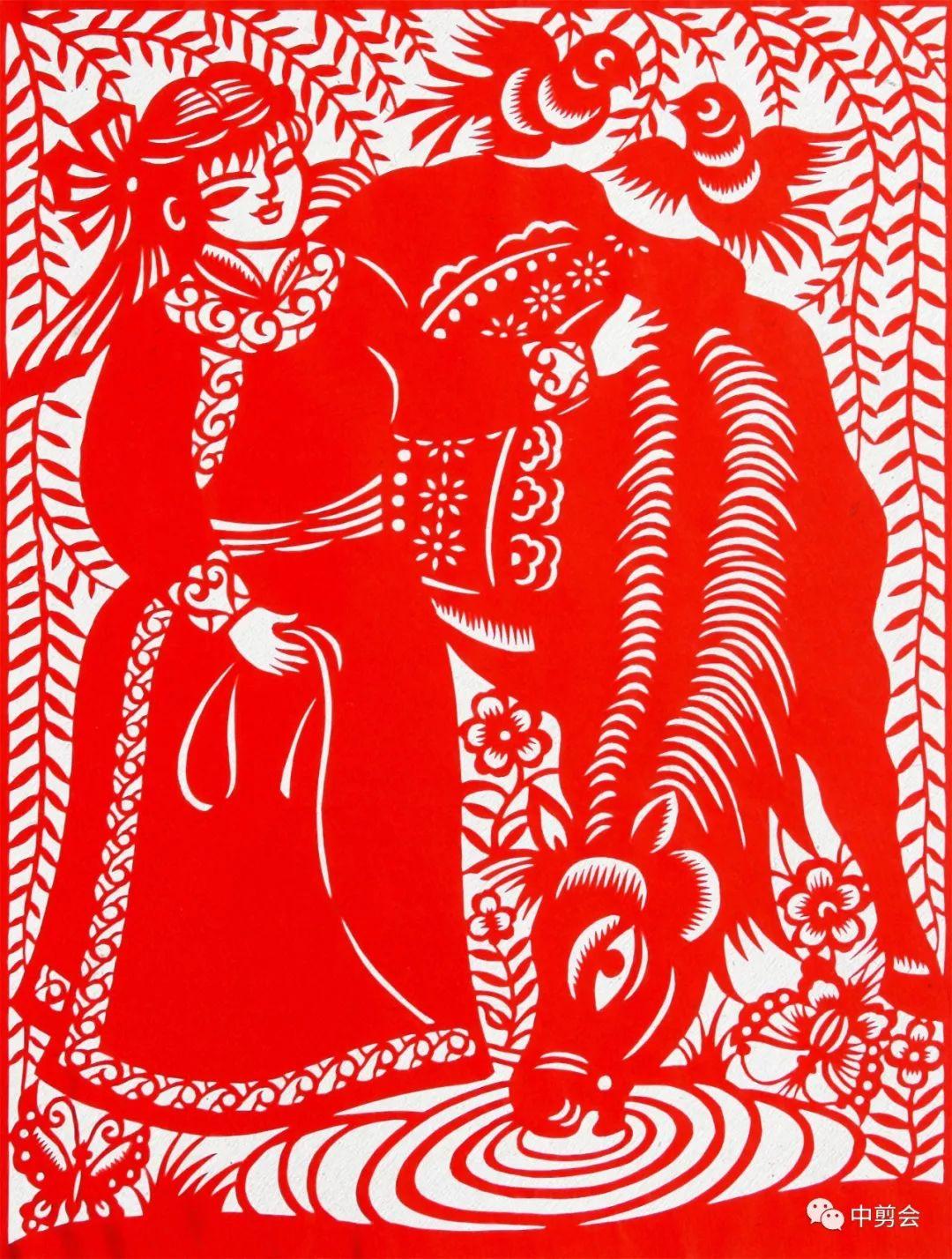 游唱游剪——记荣凤敏与她剪纸艺术中的草原风韵 第26张
