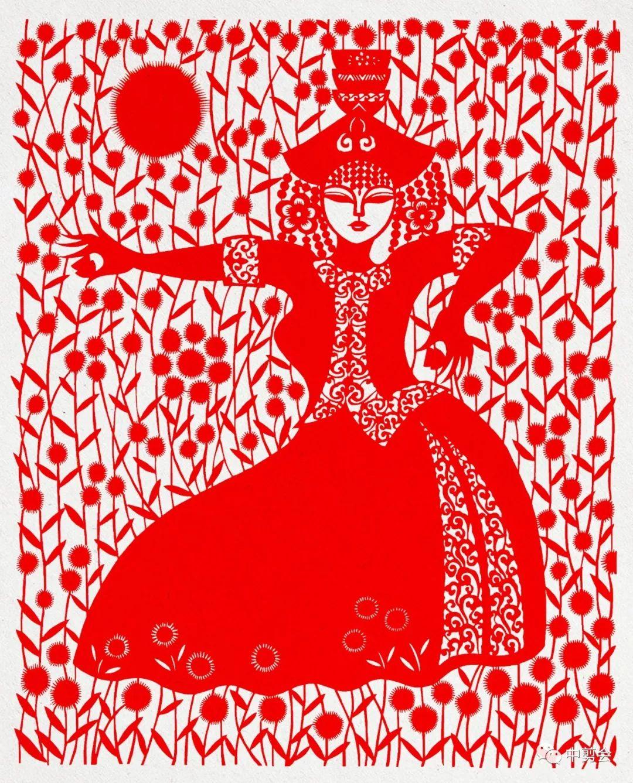 游唱游剪——记荣凤敏与她剪纸艺术中的草原风韵 第38张