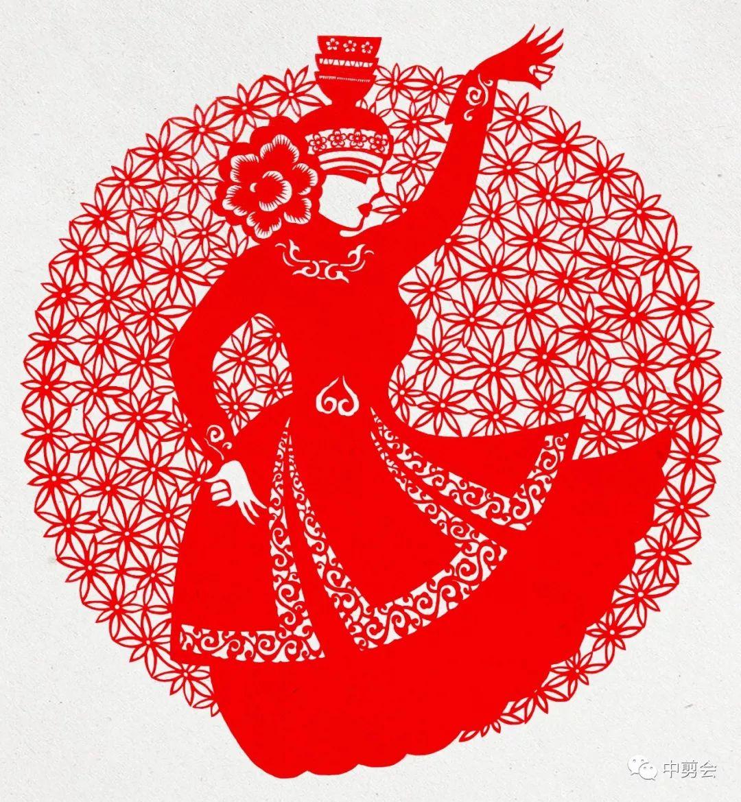 游唱游剪——记荣凤敏与她剪纸艺术中的草原风韵 第39张