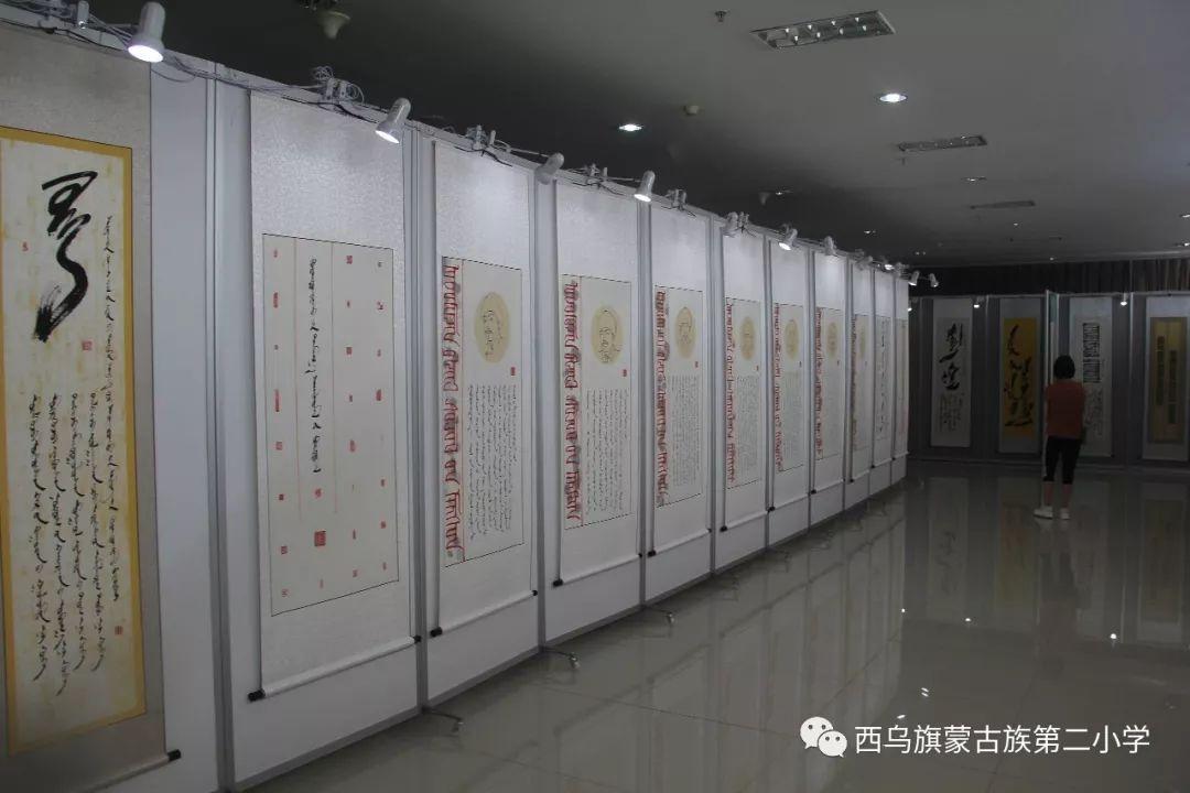 【乌珠穆沁】— 宝音陶格陶个人蒙古文书法展圆满结束 第25张