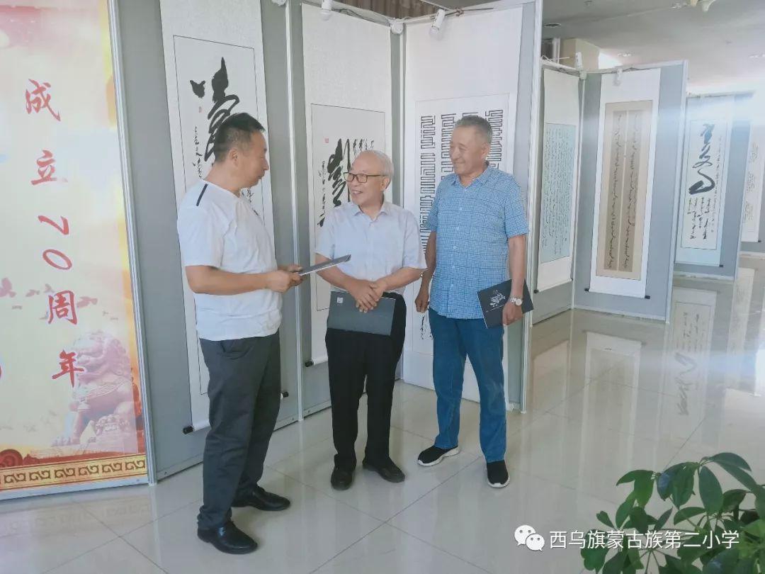 【乌珠穆沁】— 宝音陶格陶个人蒙古文书法展圆满结束 第31张