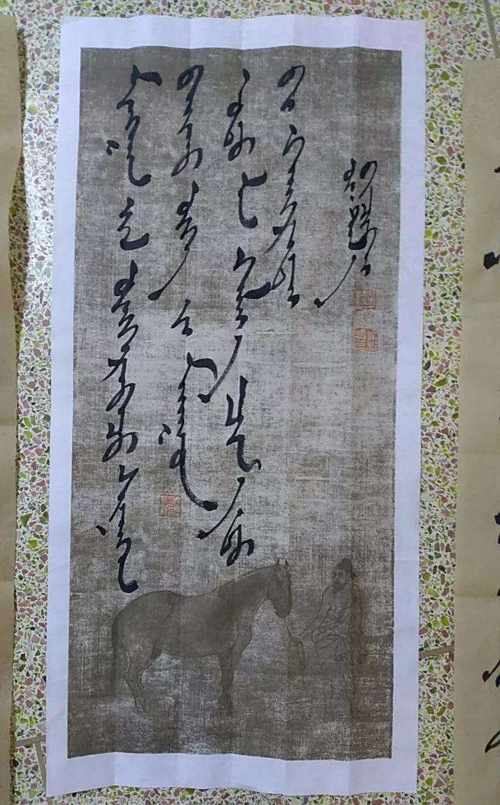 【人物】90后青年才俊乌塔拉:励志为蒙文书法篆刻艺术做贡献 第23张