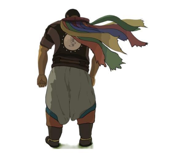 手绘一个蒙古汉子人物背影图片