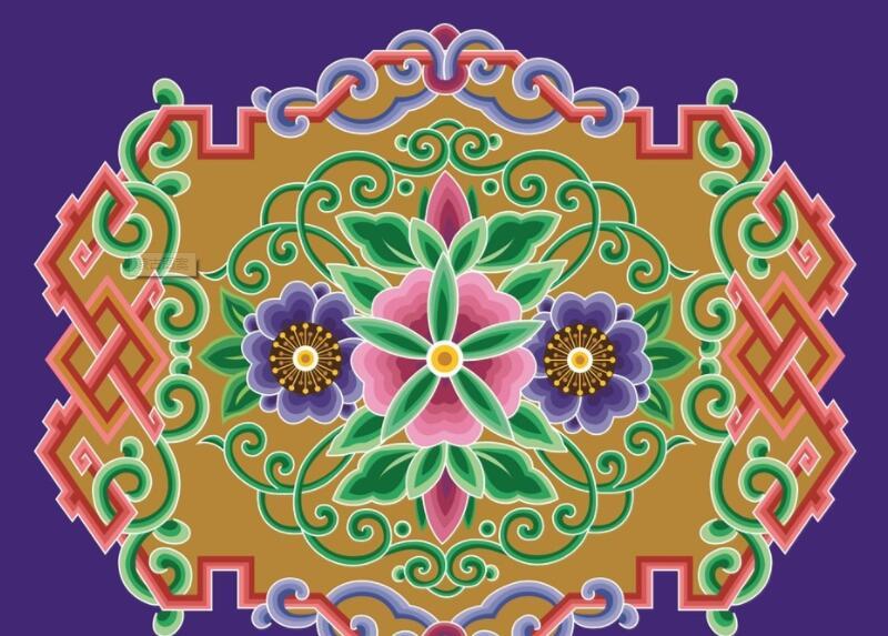 蒙古彩色图案图片1