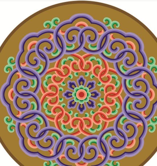 蒙古彩色图案高清图片3