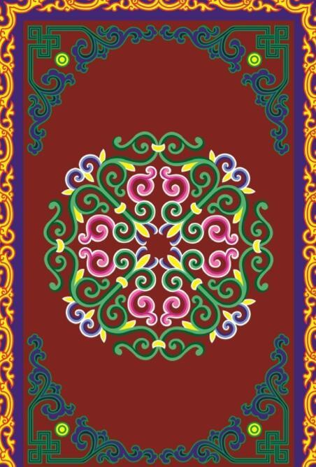 蒙古彩色图案高清图片4