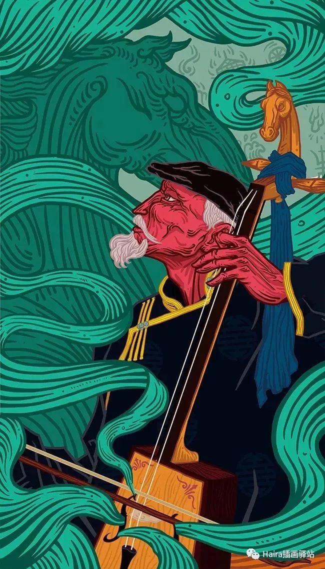 《游牧印迹》蒙古族游牧生活插画设计 第10张