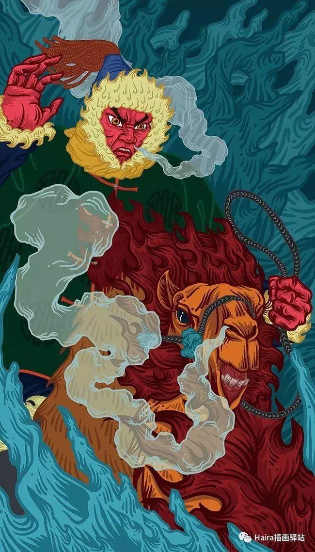 《游牧印迹》蒙古族游牧生活插画设计 第14张