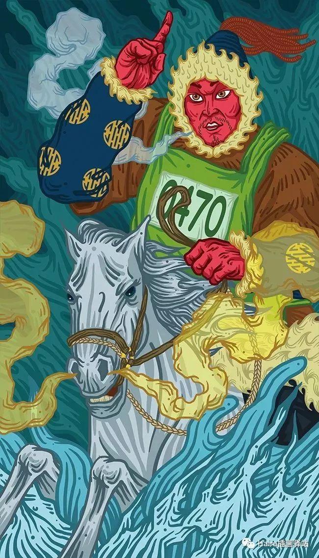 《游牧印迹》蒙古族游牧生活插画设计 第15张