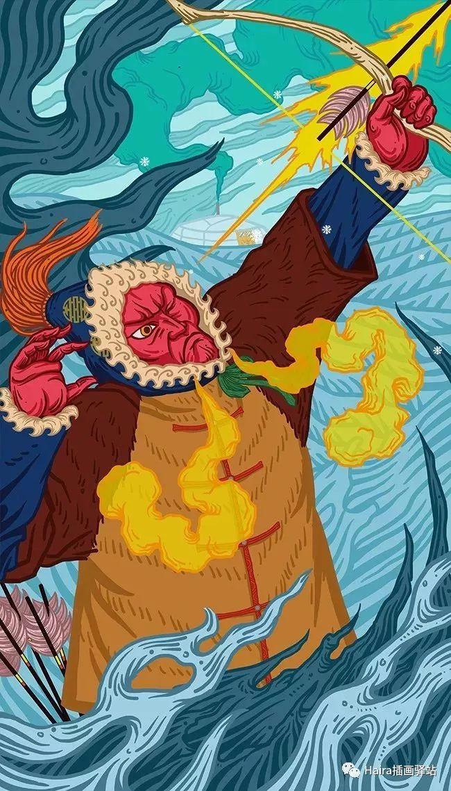 《游牧印迹》蒙古族游牧生活插画设计 第16张