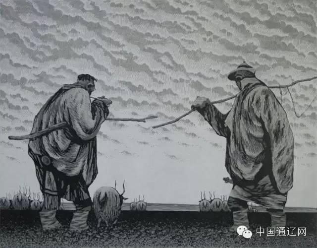 【出彩】科尔沁版画十杰之田宏图 第8张
