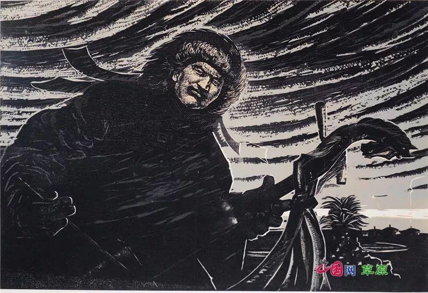 弘扬乌兰牧骑精神 深入生活采风:纸上笔底的科尔沁风情之版画篇(原创组图) 第4张