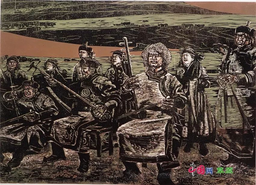 弘扬乌兰牧骑精神 深入生活采风:纸上笔底的科尔沁风情之版画篇(原创组图) 第10张