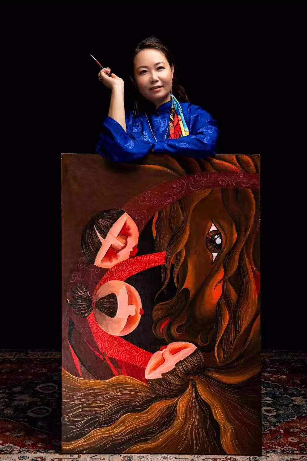 苏龙嘎老师《神骏》个人画展 第19张 苏龙嘎老师《神骏》个人画展 蒙古画廊