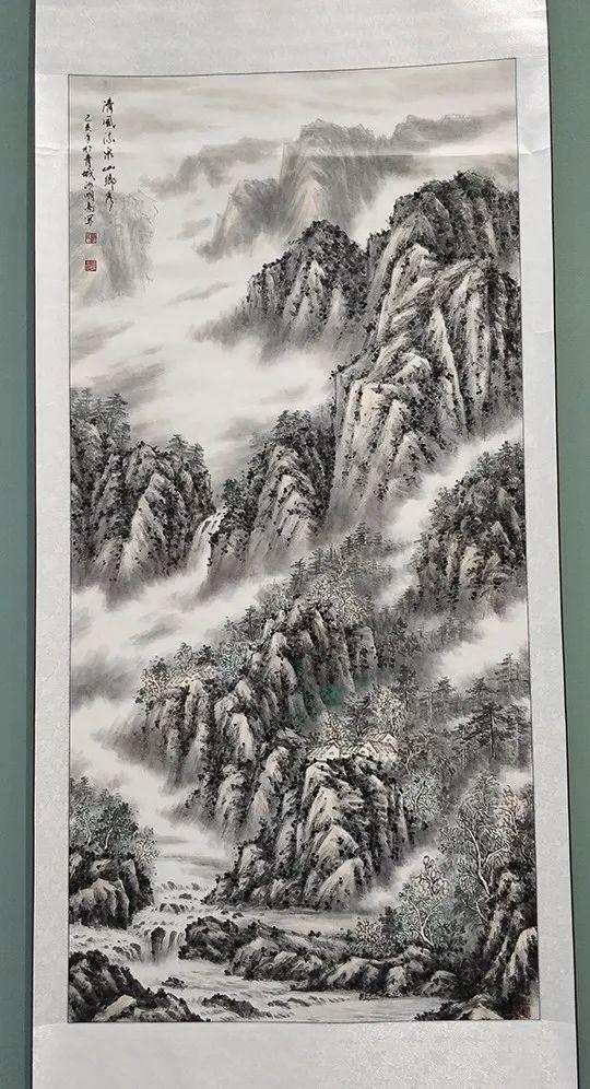 """内蒙古诗书画研究会""""庆祝中华人民共和国成立70周年书画展"""" 第30张"""