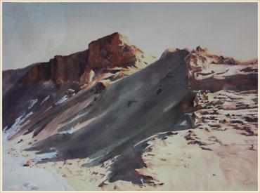 著名蒙古族水彩画家白长青作品欣赏 第3张 著名蒙古族水彩画家白长青作品欣赏 蒙古画廊