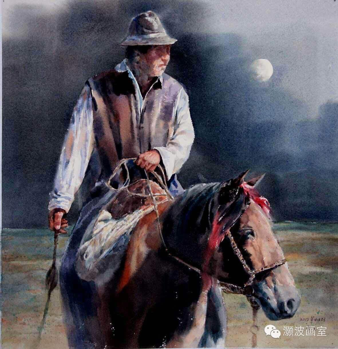 著名蒙古族青年水彩画家宝玉作品欣赏 第7张 著名蒙古族青年水彩画家宝玉作品欣赏 蒙古画廊