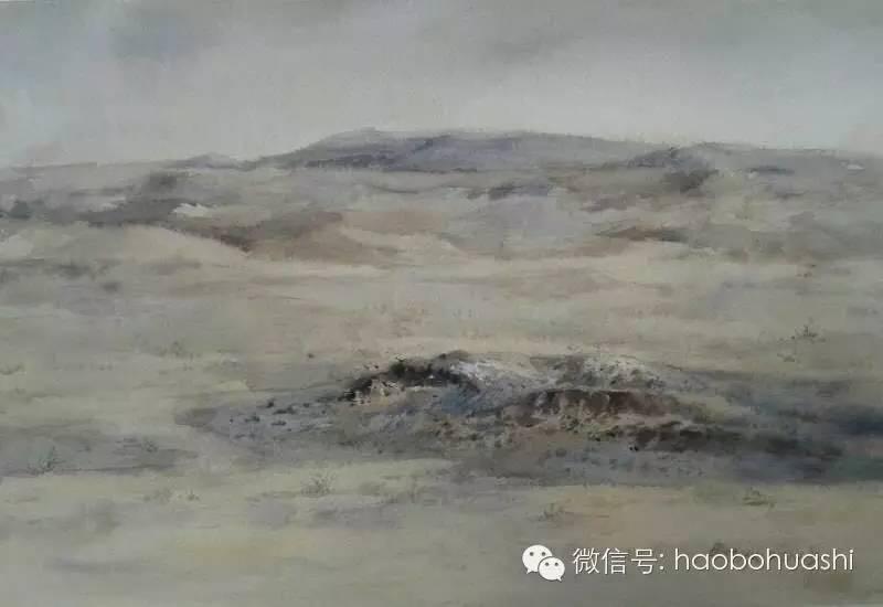 著名蒙古族青年水彩画家宝玉作品欣赏 第15张 著名蒙古族青年水彩画家宝玉作品欣赏 蒙古画廊
